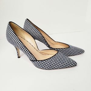 J Crew Collett D'orsay Gingham Pumps size 8.5